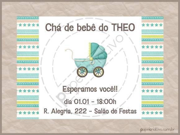 Mini Convite Chá De Bebê