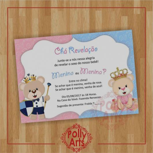 Convite Chá Revelação – 44 Ideias Fofas & Modelos Para Imprimir!