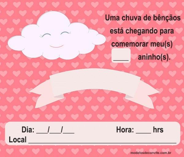 Convite Chuva De Amor   60 Modelos Especiais Para Escolher E Se