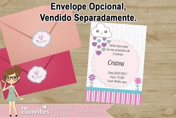 Convite De Aniversario Chuva De Bencao