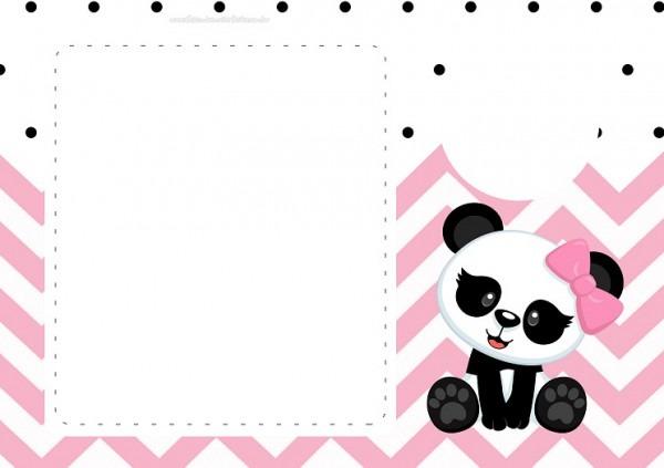 Convite Panda Rosa Menina Para Baixar E Imprimir Em Casa