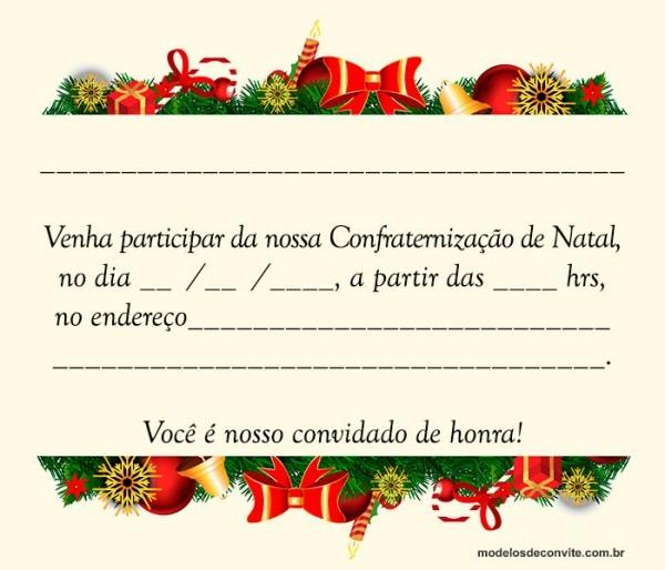 Convite Para Festa De Natal Da Empresa – Modelos De Convite