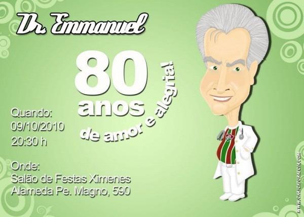 Convite De Aniversário 80 Anos – Modelos De Convite