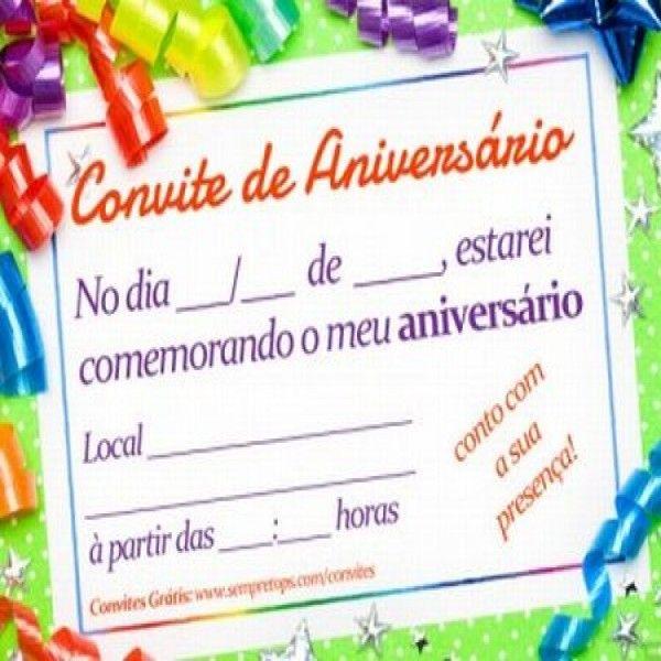 Convite De Aniversario Infantil Personalizado Gratis » Happy