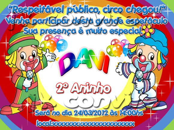 Convite De Aniversário Patati Patatá No Elo7