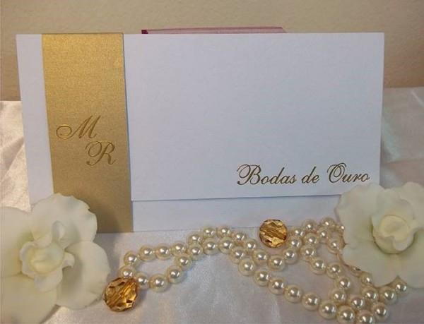 Convite De Bodas De Ouro Moderno – Modelos De Convite