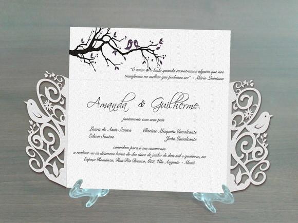 Molde Silhouette Convite De Casamento No Elo7