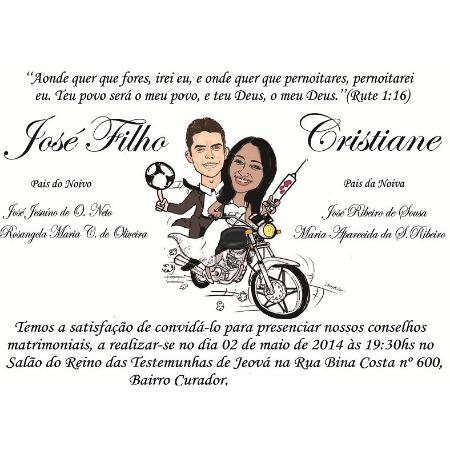 Convite De Casamento A Caricatura É Grátis Para 70 Convites R$ 2 5