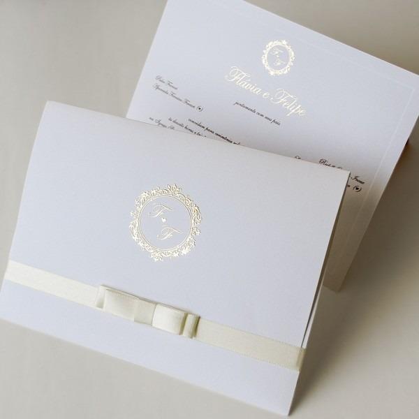 Convite De Casamento Clássico