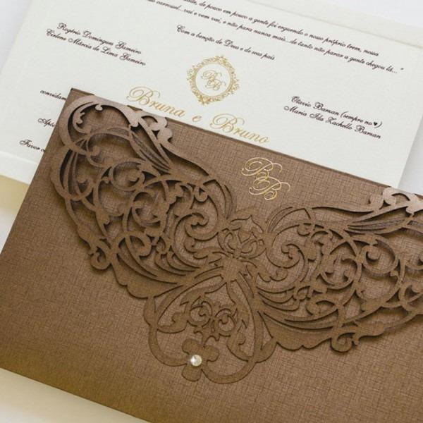 Convites De Casamento Premium
