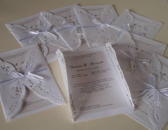 Convites Com Doilies ( Papel Rendado)    Nosso Casamento