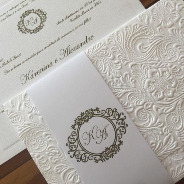 Convite Com Papel Texturizado