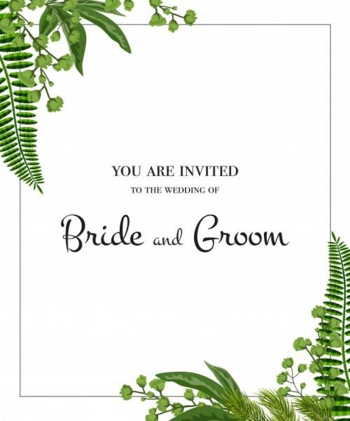Convite De Casamento  Quadro Com Hortaliças No Fundo Branco  Festa