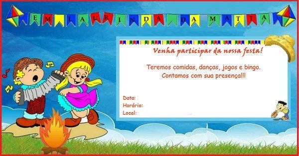 Convite De Festa Junina Para Imprimir