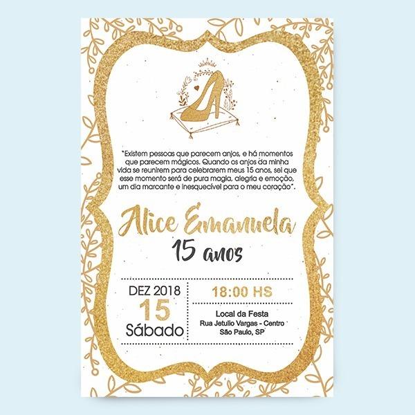 Convite De Quinze Anos Virtual Princesa