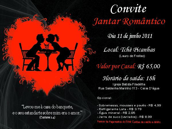 Convite Dia Dos Namorados Ibf