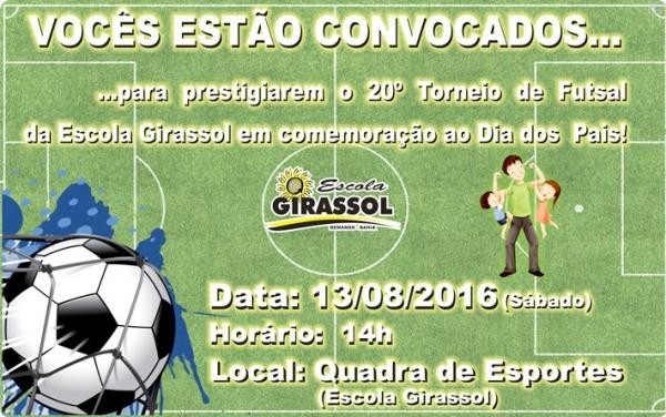 Convite Dia Dos Pais – Escola Girassol
