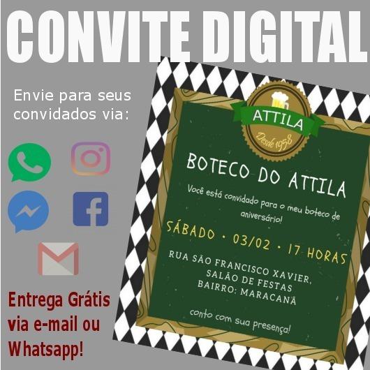 Convite Digital Festa Boteco Arte P  Whatsapp Face