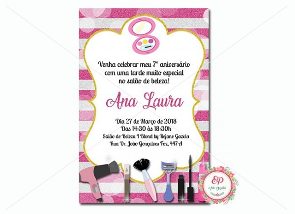 Convite Sabão De Beleza