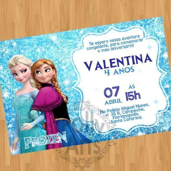 Convite Digital Virtual Frozen