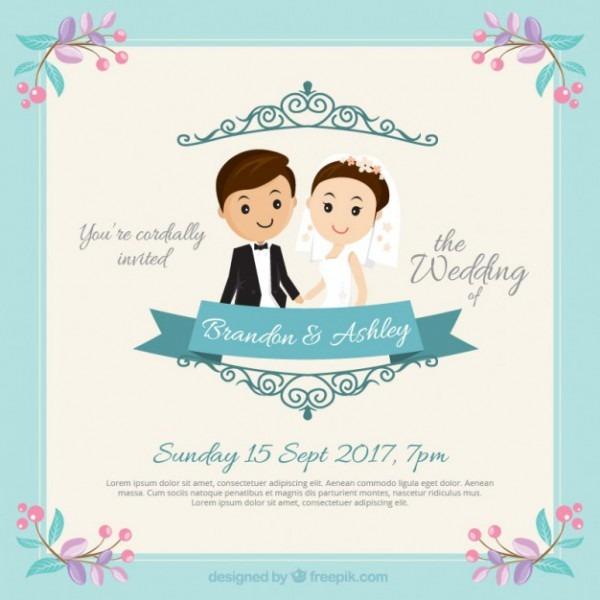 Convite Do Casamento Casal Nice