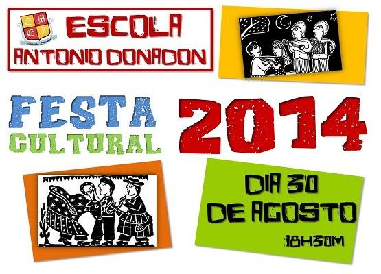 Convite – Festa Cultural Da Escola Antônio Donadon – Conesul Notícias