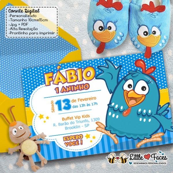 Convite Festa Galinha Pintadinha Digital No Elo7