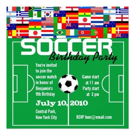 Convite Festa Infantil Da Copa Do Mundo
