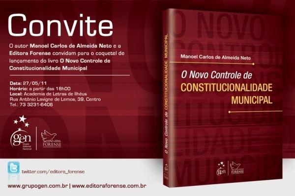 Convite – Lançamento Do Livro De Manoel Carlos De Almeida Neto