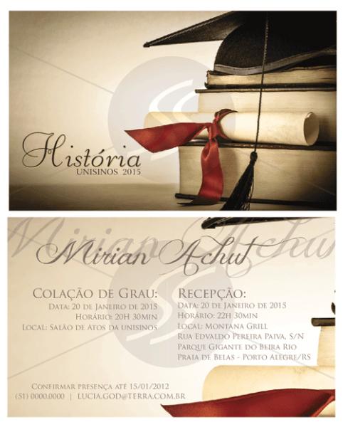 Convites De Formatura Modernos