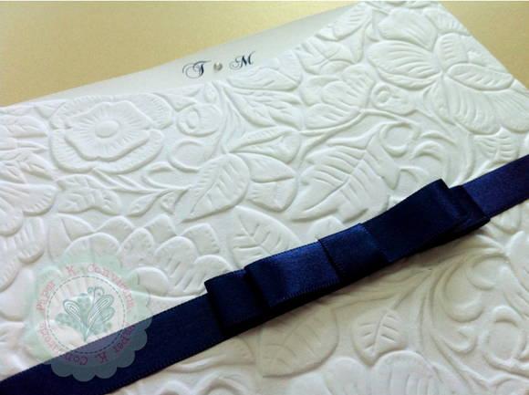 Convite Fronha Papel Texturizado Floral No Elo7