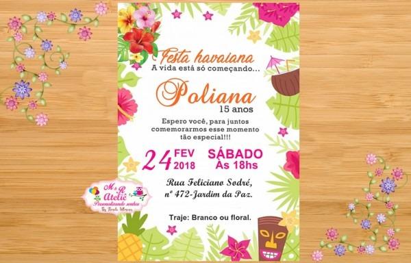 Convite Havaí (honolulu) No Elo7