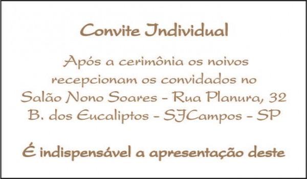 Convite Individual Para Casamentos No Elo7