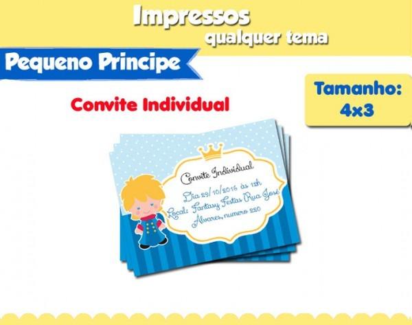 Convite Individual Pequeno Príncipe No Elo7