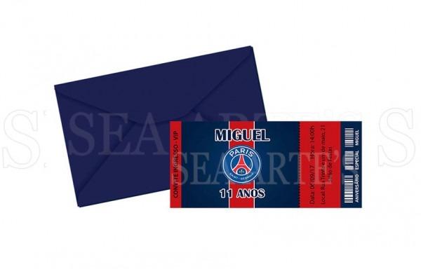 Convite Ingresso Futebol Paris Saint Germain No Elo7