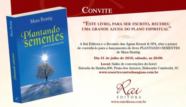 Convite De Lançamento Do Livro 'plantando Sementes' « Mara Brattig