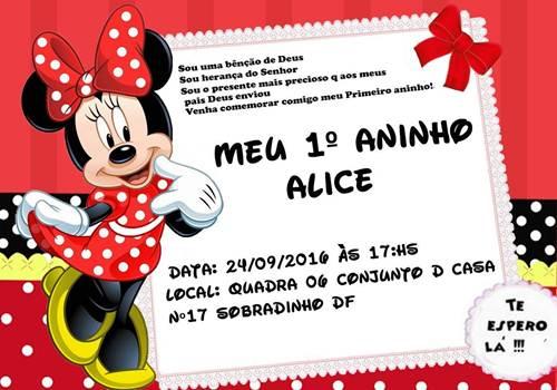 25 Convites Da Minnie Vermelha Tradicionais! – Modelos De Convite