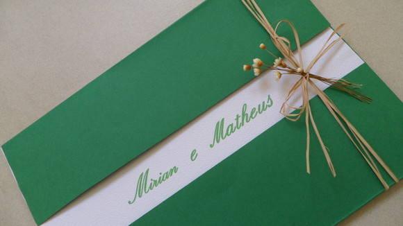 Convite Casamento Verde E Branco No Elo7