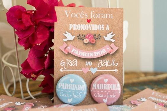 Convites De Padrinhos Diferentes  Confira O Post No Blog!