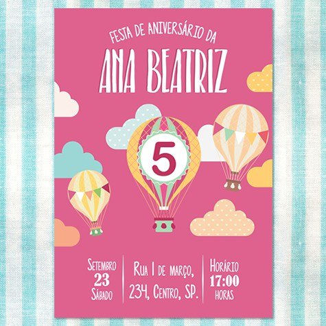 Convite Para Aniversario Infantil 2 » Happy Birthday World