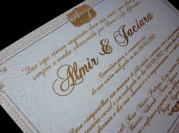 Convite Casamento 14x10cm Layout 23 No Elo7