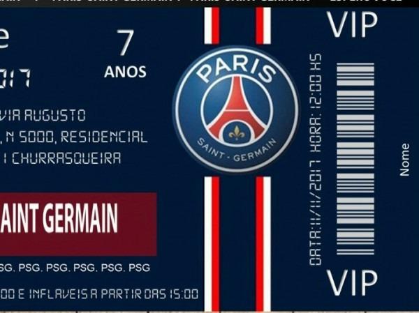 Convite Paris Saint Germain