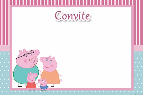 Convite Peppa Pig  30 Ideias Para Você Se Inspirar!