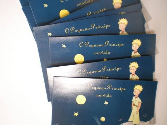 Convite Pequeno Príncipe Sem Envelope No Elo7