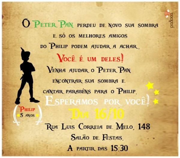 Padoca Festas  Quem Viu A Sombra Do Peter Pan