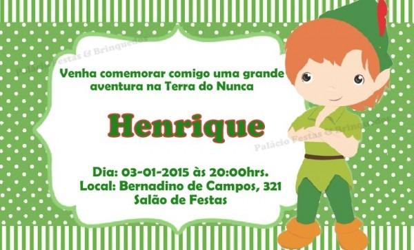 Convite Peter Pan No Elo7