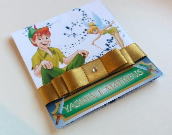 Convite Peter Pan E Sininho