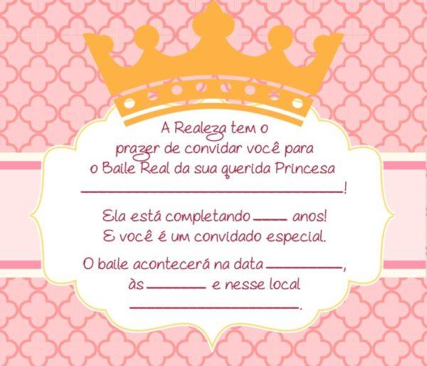 Convite Para Aniversário Das Princesas Disney – Modelos De Convite