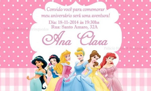 Convite Princesas No Elo7