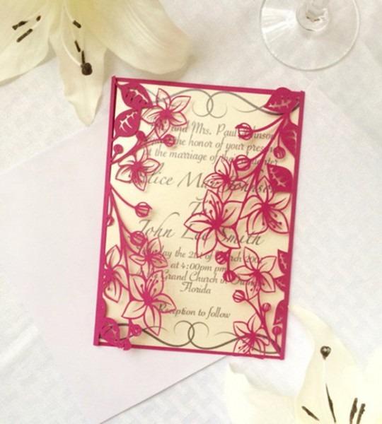 Arquivo Silhouette Convite Vasado Floral No Elo7